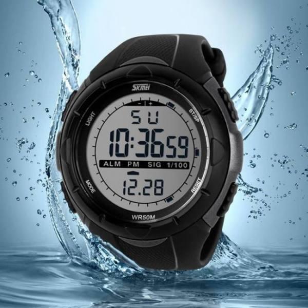 Men led digital watch, dive swim sports outdoor