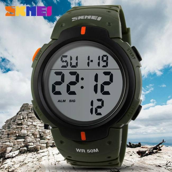 Outdoor sports digital waterproof   watch for men