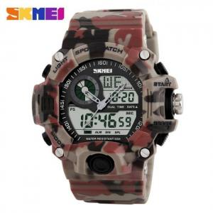 Men dual display wristwatches 50m waterproof outdoor sport watch chronograph shock resistant