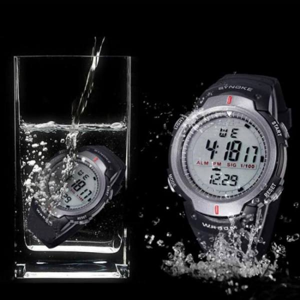 Waterproof digital fashionable sports watches for men with led lights