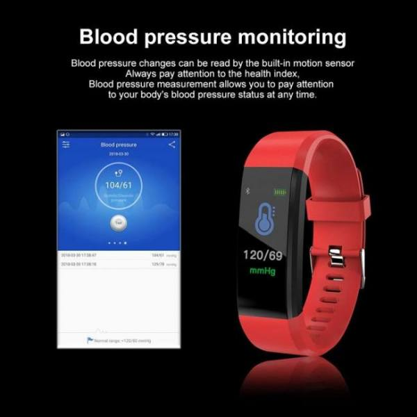Sfpw-8 fitness smart pedometer health activity monitor pulsometer bp bluetooth bracelet watch