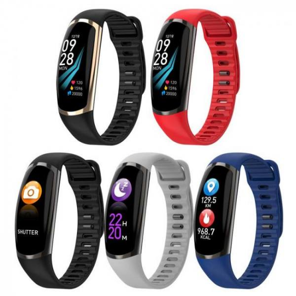 FREE SHIPPING SFPW-5 Fitness Smart Pedometer Health Activity Monitor Pulsometer BP Bluetooth Bracelet Watch 50M