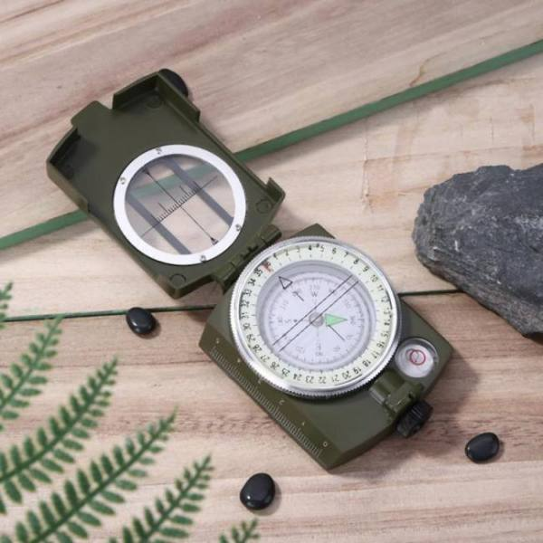 Lc-2 military style lensatic survival hiking emergency compass