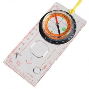 Compass OC-1 Orienteering Baseplate Map Compass Scale Ruler with Lanyard angle