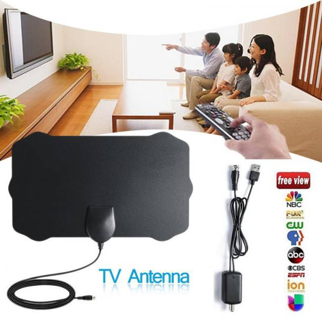 120 Miles Antena Digital HDTV Indoor TV Antenna with Amplifier Signal Booster