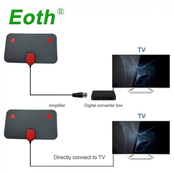 Digital indoor tv -dtv -hdtv antennas free tv fox aerial dvb-t dvb-t2 surf hd radius vhf uhf signal receiver