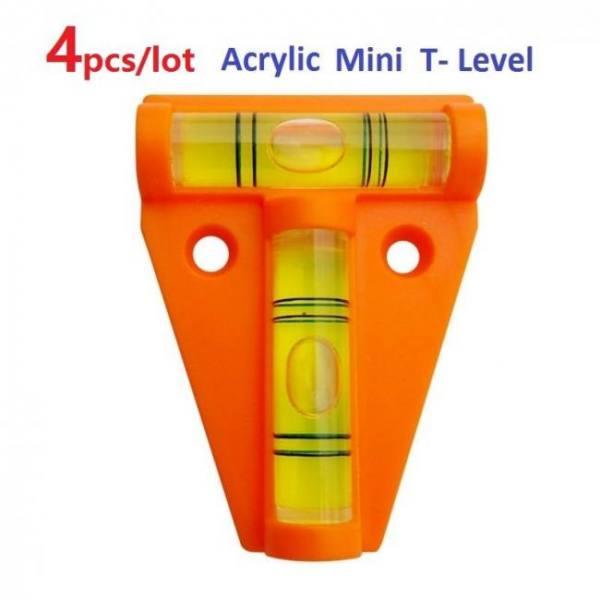 Camp & Survive Orange Acrylic T-Level Tool RV Camper Boat Console Table Measurement Mini Acrylic