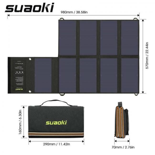 Portable 60w Folding Foldable Solar Panel Charger Solar