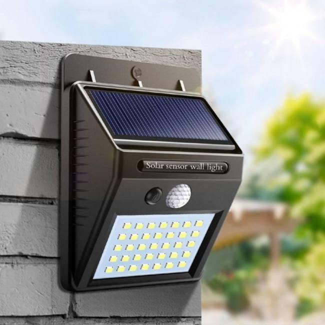 Night Light Solar Powered LED Wall Lamp Motion Sensor Solar Light Garden  Sadoun Sales