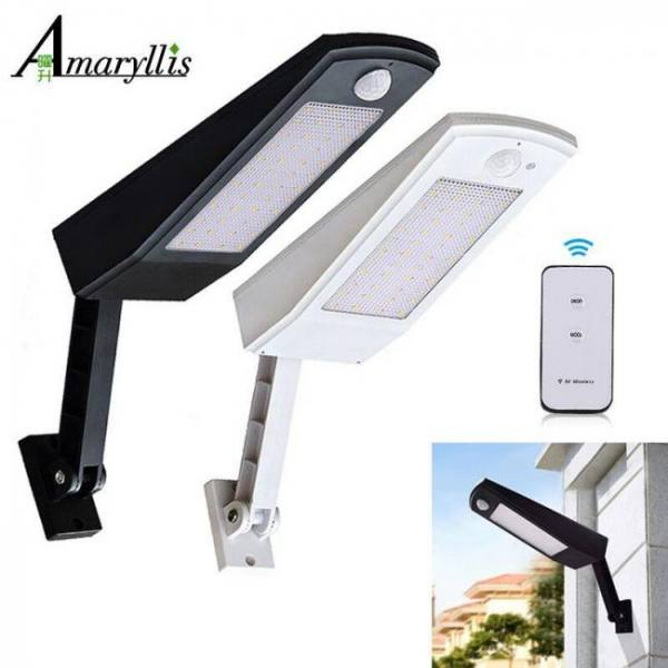 FREE SHIPPING 48 LED Outdoor Motion Sensor Light Solar Lights 900LM Lamp For Wall Garden Yard 900LM