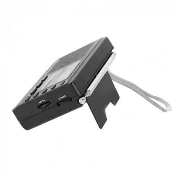 Audio Video Portable Mini Shortwave Emergency Radio DSP FM / MW / SW + Earphone. backpack