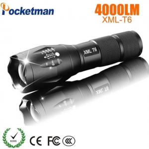 Led rechargeable pocketman xml t6 linterna torch 4000 lumens 18650 battery led flashlight