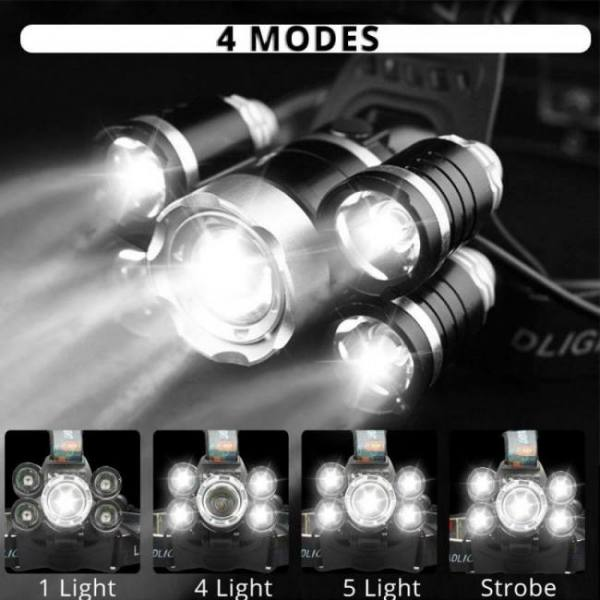 Lhl-1 t6 led headlight up to 4000 lumens