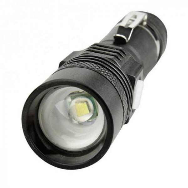 Camp & Survive Powerful Aluminum Alloy 400 Lumen USB Rechargeable Flashlight 400