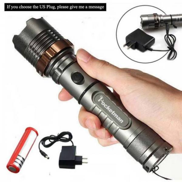 Lfl-3  t6 led torchaluminum alloy zoomable tactical defense flashlight up to 8000 lumens