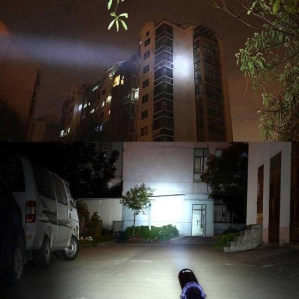Camp & Survive Aluminum Baseball Bat LED Flashlight 3800 Lumens Super Bright Baton Torch 3800