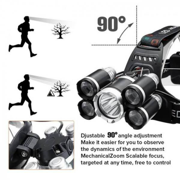 Backpacks 50k Lumens T6 LED Head Lamp Fishing Flashlight Torch backpack