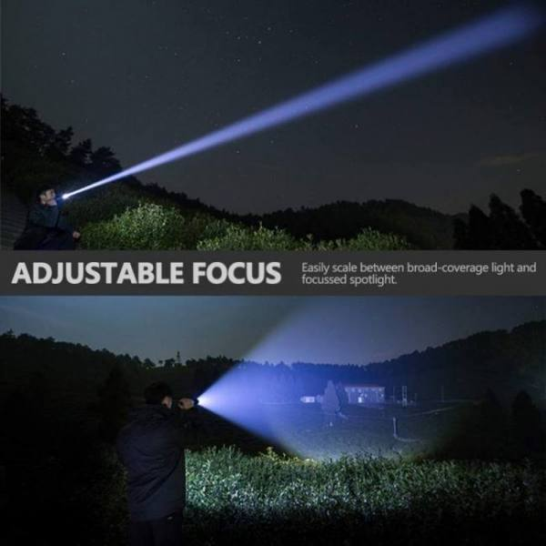 Xhp70 / xhp50 led torchaluminum alloy zoomable tactical defense flashlight