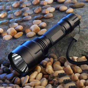 Flashlight with rechargeable battery warterproof design led hunting lanterna lamp