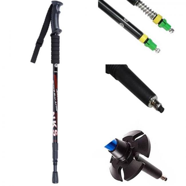 Walking sticks ultralight telescopic trekking hiking poles