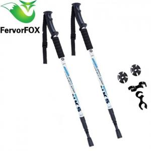 Camp & Survive Walking Sticks Ultralight Telescopic Trekking Hiking Poles Anti Shock