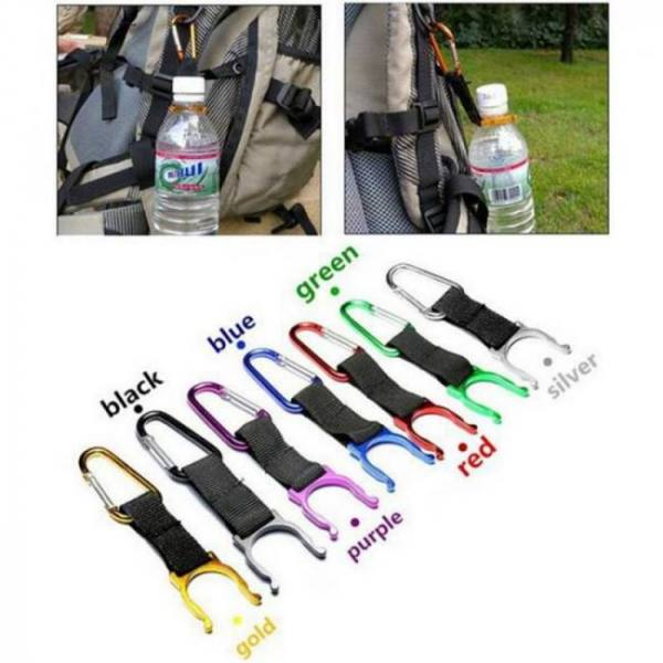 Backpacks Climbing Carabiner Water Bottle Buckle Hook Holder Clip For Camping Camping