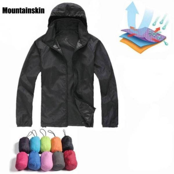 Biking Quick Dry Hiking Jackets Waterproof Sun-Protective Outdoor Sports Coats Windbreaker Coats