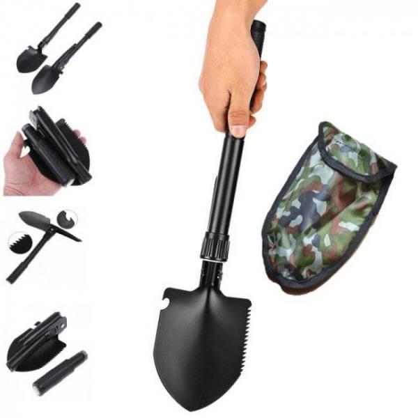 Portable folding camping garden shovel