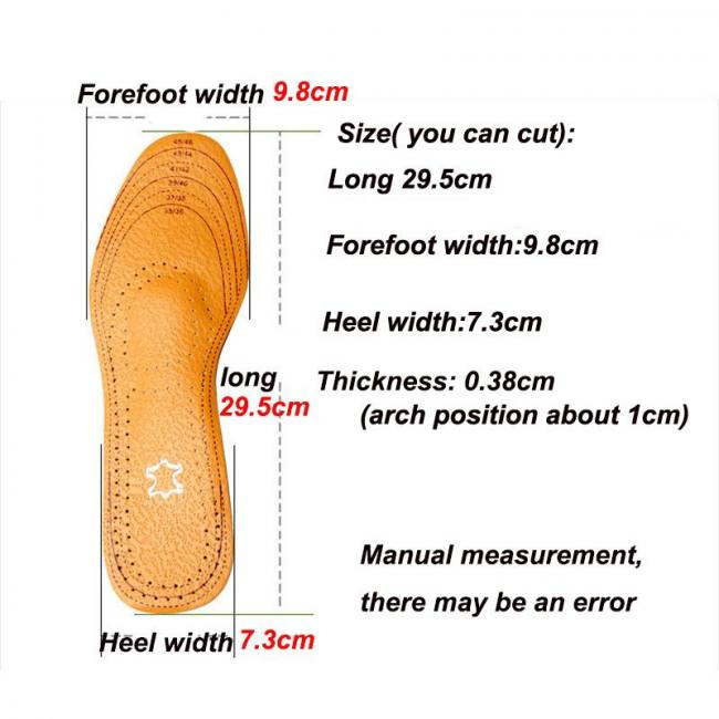 Unisex orthotic arch support sport shoe insoles insert cushion