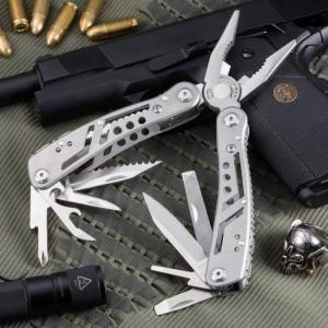 Swiss army knife and multi-tool kit for outdoor camping equipment