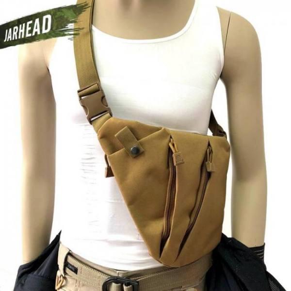 Multifunctional concealed tactical storage gun bag holster shoulder bag