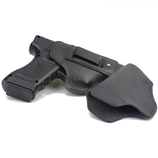 Leather IWB Concealed Carry Gun Holster for Glock 17 19 22 23 43 Sig Sauer  P226 P229 Ruger Beretta 92 M92 - Sadoun Sales International