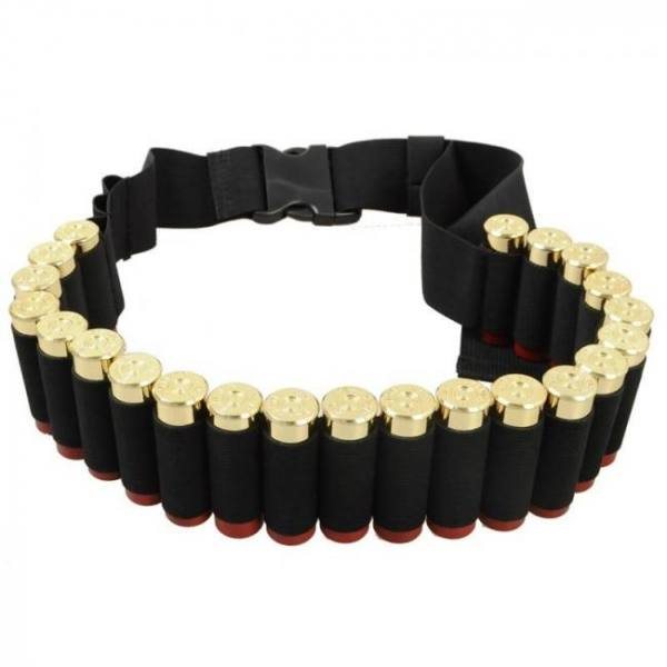 FREE SHIPPING Hunting 12/20 Gauge Ammo Holder 25/28/29 Rounds Belt Airsoft