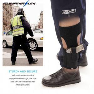 Ankle elastic secure strap leg concealed carry pistol gun holster