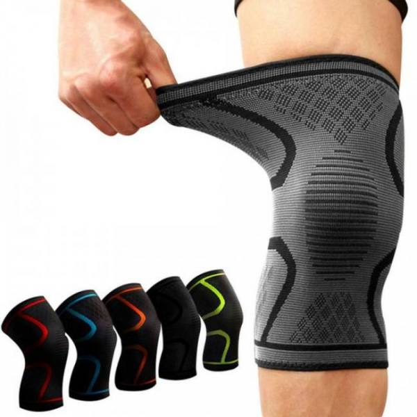 Fitness running cycling elastic nylon knee support braces