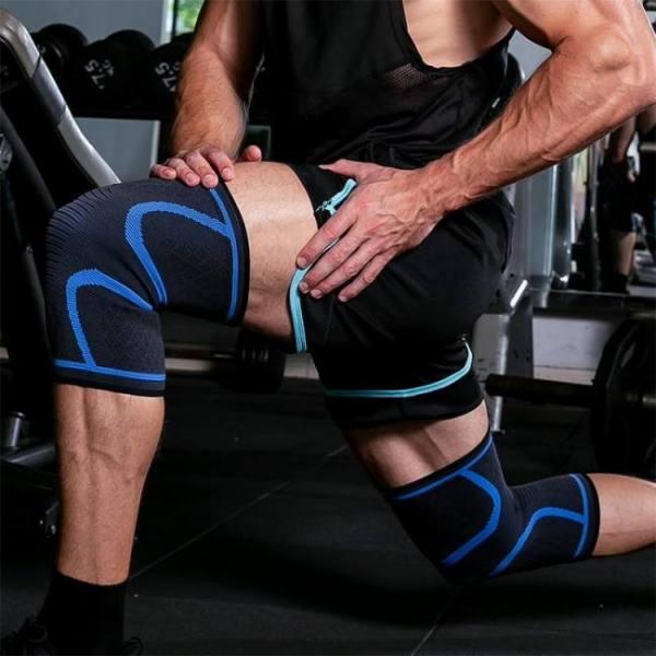 Biking Nylon Elastic Sports Breathable Knee Support Brace Pad Basketball