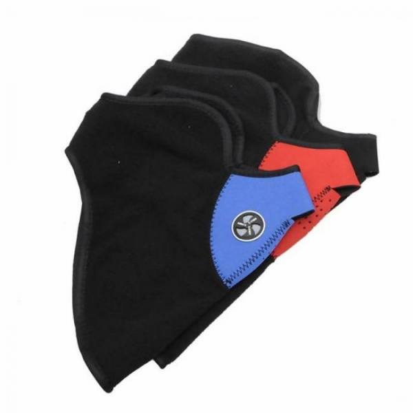 Airsoft warm fleece bike half face mask cover protection