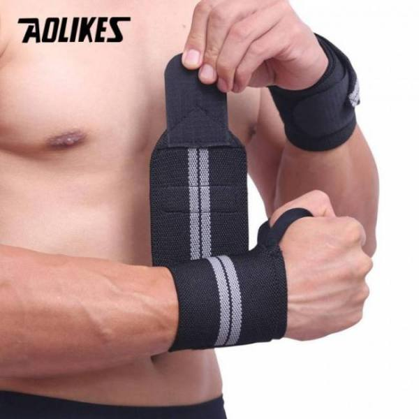 Gym weightlifting weight lifting training bar grip barbell hand wrist strap wrap protection support