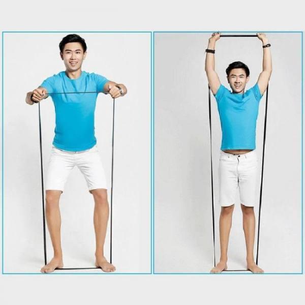Fitness yoga resistance health elastic sport latex band strap