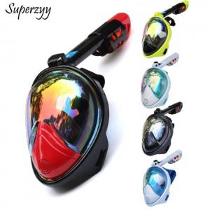 Snorkeling mask underwater scuba anti fog full face mask set with anti-skid ring snorkel