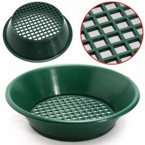 Green gold sifting panning pan classifier 13.4″