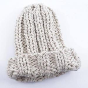 Causal winter knitted wool hat for women fashion keep warm