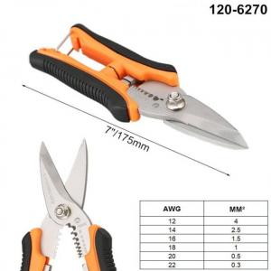 Crimping pliers wire stripper multifunctional scissor cable cutter electrician multi tool