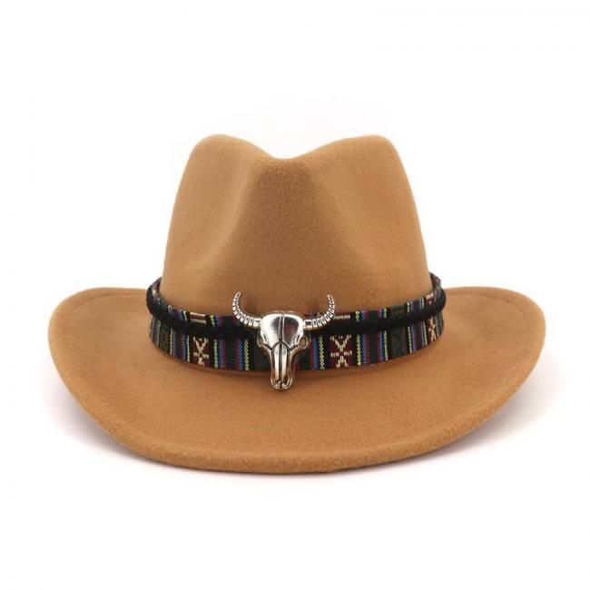 Wide brim wool felt fedora western cowboy jazz hat men women