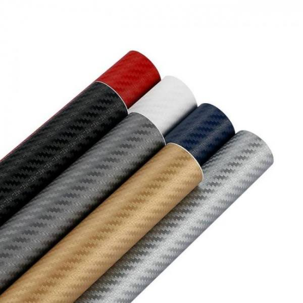 3d 3m auto car carbon fiber vinyl film wrap sheet roll (12″ w x 50″ l )