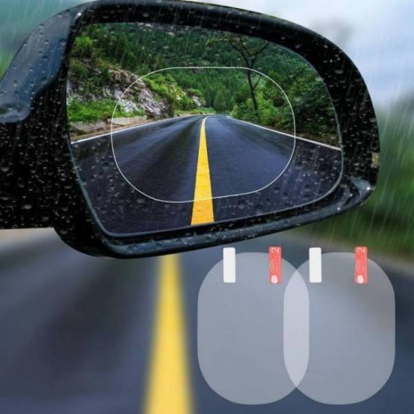 2pcs/set side mirror anti-glare anti fog protective waterproof rainproof clear film car sticker