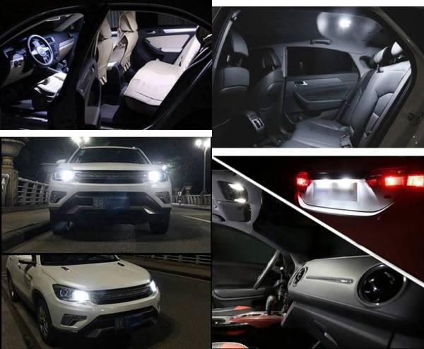 Accessories 2PCS T10 W5W LED car truck van interior light COB marker lamp 12V 12V
