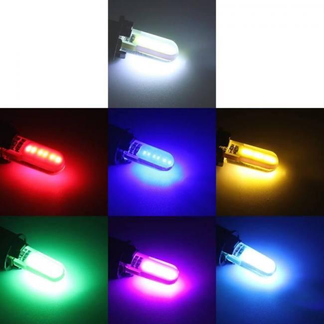 2pcs t10 w5w led car truck van interior light cob marker lamp 12v