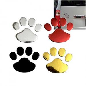 Car sticker cool design paw 3d animal dog cat bear foot prints footprint 3m decal car stickers silver gold red