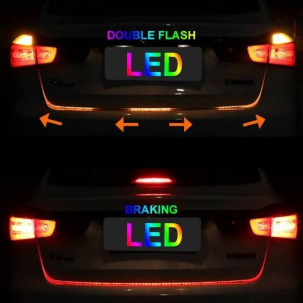 Rgb led colorful dynamic turn tail light blinker strip for car trunk 47.6 inch